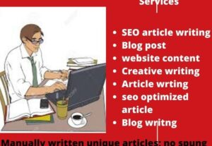 I will write a well researched, original blog post or article