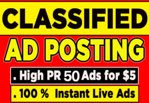 I will do classified ads posting in uae, USA, UK, Australia, Nigeria