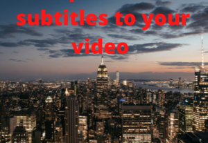3397I will create a professional subtitling for your video