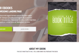 4460I will design 1 Page Landing Page To Sell Your Ebook or Any Digital Product